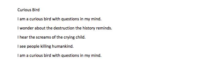 Ishita's Poem